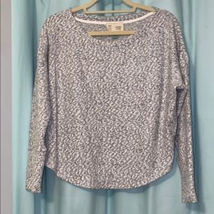 Gray and white patterned sweater